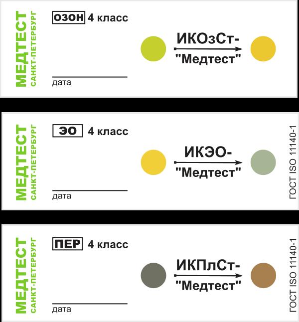 Индикаторы для контроля пероксидной (плазменной), этиленоксидной, озоновой стерилизации